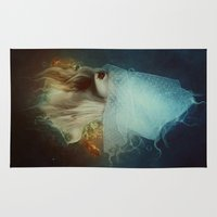 underwater Area & Throw Rugs featuring Underwater by Kryseis Retouche