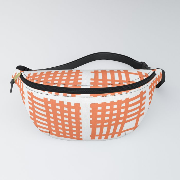 Mid Century Modern Abstract Squares Orange Fanny Pack