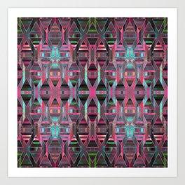 Geometric Wood Pattern G404 Art Print