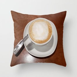 Rise and Shine Cafe con Leche Coffee! Throw Pillow