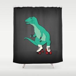Tyrollersaurus Rex Shower Curtain