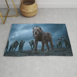 Lion Film Rug