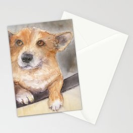 We aren't going to the vet, are we?? Stationery Cards