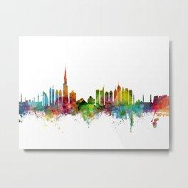 Dubai Skyline Metal Print
