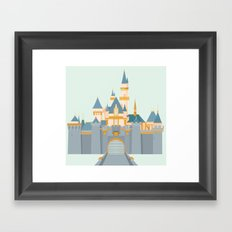 Sleeping Beauty Castle Framed Art Print