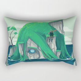 The wanderer and the ancient island Rectangular Pillow