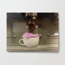 Brewing Flowers Metal Print