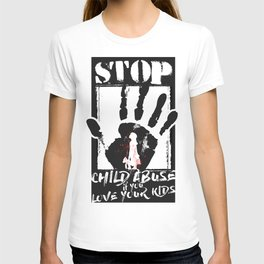 STOP CHILD ABUSE T-shirt