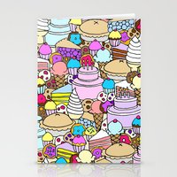 dessert Stationery Cards featuring Dessert by Julia Emiliani