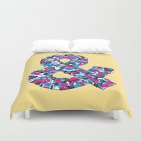 ampersand Duvet Covers featuring Ampersand by Mister Phil