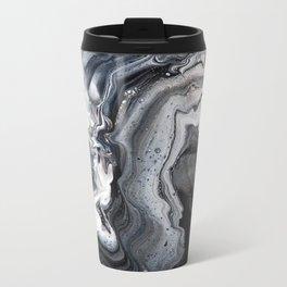 Marble B/W/G Metal Travel Mug