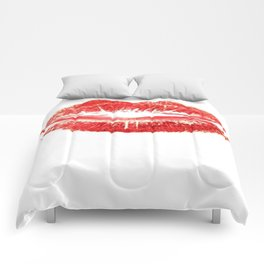 Beautiful Red Kiss Isolated Comforters