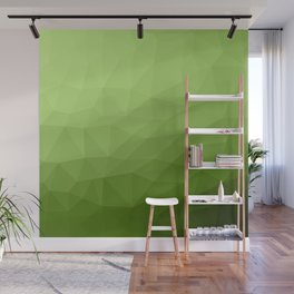Greenery ombre gradient geometric mesh Wall Mural