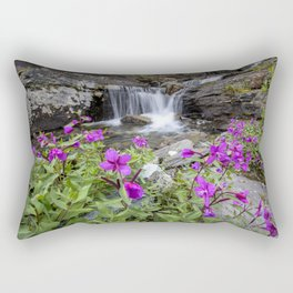 Secluded Waterfall Rectangular Pillow