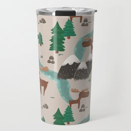 Moose in the Wildnerness Travel Mug