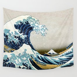 The great wave, famous Japanese artwork Wall Tapestry