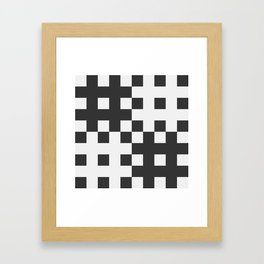 Checkerboard Framed Art Print
