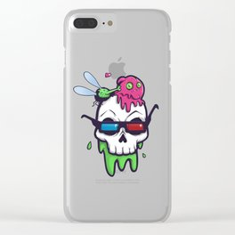 Skull Bunk Clear iPhone Case