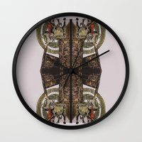 gore Wall Clocks featuring Gore by Smokacinno