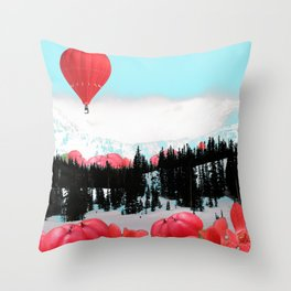 Snowy Glow Throw Pillow