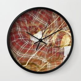 Plaid Hands and Converse Feet Wall Clock