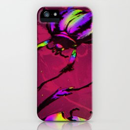 Psychedelic Scarab iPhone Case