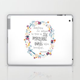 Alice in Wonderland - quote in wreath Laptop & iPad Skin