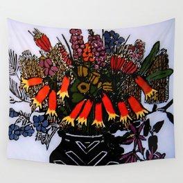 """Christmas Bells"" by Australian Artist Margaret Preston Wall Tapestry"