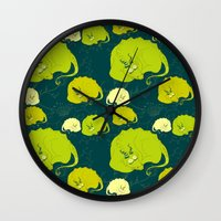 mother of dragons Wall Clocks featuring dragons by lisenok
