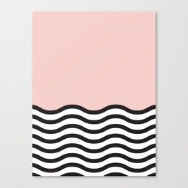 Waves of Pink Canvas Print