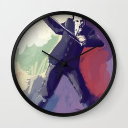 I Don't Do Sadness Wall Clock