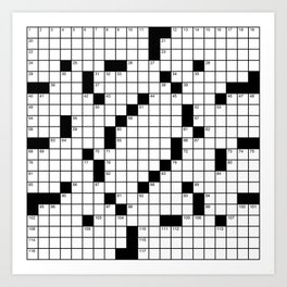 Crossword Puzzle - Write on it!  Art Print