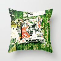posters Throw Pillows featuring posters 2 by Renee Ansell