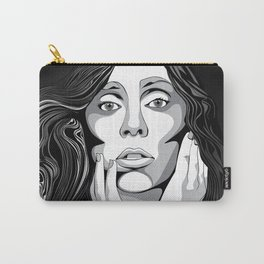 Girl Monochrome Illustration Vector 1 Carry-All Pouch