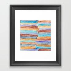 Beach Stripes Framed Art Print