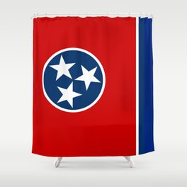 State flag of Tennessee - Authentic version Shower Curtain
