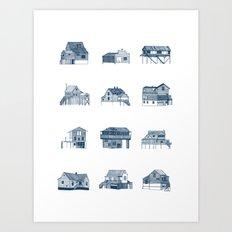 Houses of Lupus, Missouri Art Print