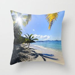 St John Salomon Beach Throw Pillow