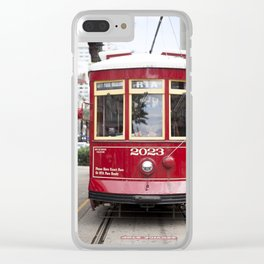 New Orleans 2023 Canal Streetcar Clear iPhone Case