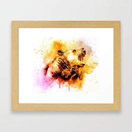 Watercolor Bear, Roaring Bear, Rustic Bear Art., Cabin Decor Framed Art Print