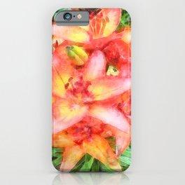 Helen's Lilies Watercolor iPhone Case