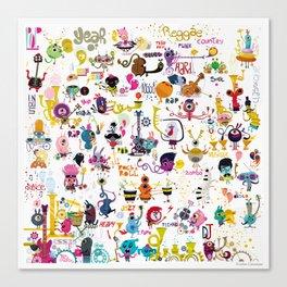 Music world Canvas Print