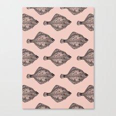 Pink flatfish pattern Canvas Print