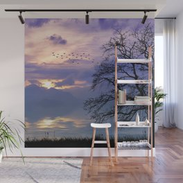 Lilac Sunset Wall Mural