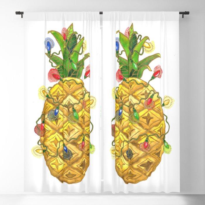 Christmas Pineapple.The Christmas Pineapple Blackout Curtain By Shelleyylstart