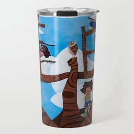 BELIEVE tree Travel Mug