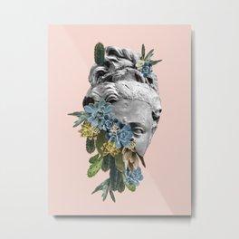 Cactus Mask Metal Print