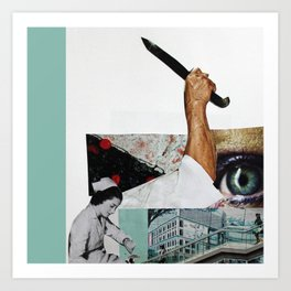 Stab Cleanup Collage Art Print
