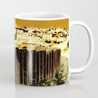 political Mugs featuring Political Balance by Lukasz Baka