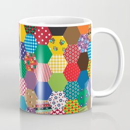 Hexagonal Patchwork Coffee Mug